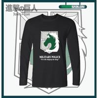 Kaos Baju Anime Attack On Titan Military Police Lengan Panjang - S