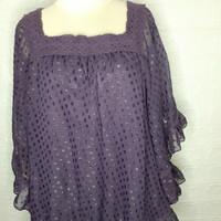 Sale atasan wanita/blouse wanita import preloved ungu