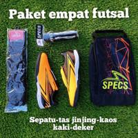 sepatu futsal - kaos kaki - tas jinjing - deker 4 in 1 murah - 39