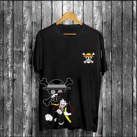 T-shirt Luffy Punch / Baju Kaos Distro Pria Wanita Cotton 30s