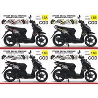 Stiker decal striping Honda Beat street Variasi Ar