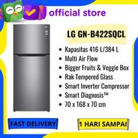 PROMO KULKAS 2 PINTU LG GN-B422SQCL SMART INVERTER COMPRESSOR 416LITER