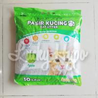 Pasir Kucing Gumpal Murah/ Cat Litter Pasir Kawanku Ukuran 10 Liter - Apple