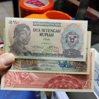 (Set 3 Lembar) Uang Kuno Indonesia 2 ½ Rupiah Beda Generasi