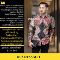 Baju batik pria lengan panjang Slim fit Batik Premium kemeja batik 008