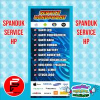Spanduk / Banner / Backdrop Service HP ukuran 0,6 x 1,6 meter