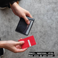 Preghiero Snap Cardholder/Slim Wallet Genuine Leather