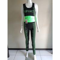 Setelan senam termurah set baju olahraga wanita muat jumbo legging