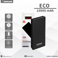 Delcell Power Bank Eco 1000mAh Real Capacity-Polymer Battre Black