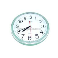 Jam Dinding Rumah Kantor Bulat Silver Chrome Wall Clock Pagol 33T