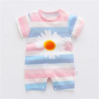 jumper bayi unisex / romper bayi unisex motif terbaru 2021 - Flower, 6-12 bulan