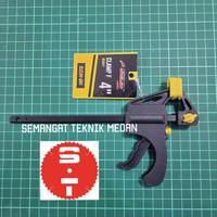 4 QUICK RELEASE BAR F CLAMP KLEM BAIS RAGUM PLASTIK 10cm 4 4  SOLID