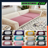 Sarung Pelindung Sofa Bentuk Persegi Bahan Kain Tebal Elast