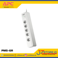APC colokan listrik steker 5 port Surge Protector Arrester APC-PM5-GR