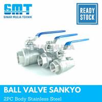 3/4 ball valve sankyo 2pc Stainless