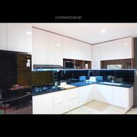Custom Black Glass Kitchen Set Mrs. M