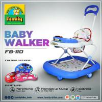 Baby walker family FB 110 model terbaru dengan dorongan dan alas kaki