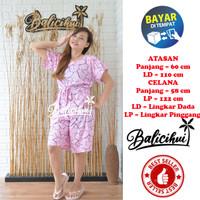 Balicihui Setelan Pendek Baju Tidur Wanita Santai Nyaman Piyama Bali