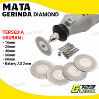Mata Diamond Gerinda Potong Mini Grinder Tuner Besi Batu Logam Kaca