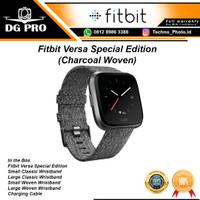 Fitbit Versa SE Special Edition Charcoal Woven Smart Watch Original