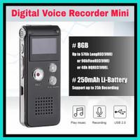 Alat Perekam Suara Digital Voice Recorder Mini Mp3 Player 8Gb DR01