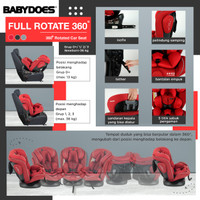 Carseat Babydoes FULL Rotate 360 Isofix