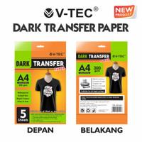KERTAS TRANSFER VTEC DARK TRANSFER PAPER A4 300 GSM DTP-9119