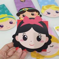 Amplop Angpao Ampao Princess Disney isi 5pc mix Lucu Impor