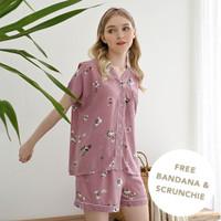 Chocochips - Hillary Set/ Piyama Rayon/ Baju Tidur/ Setelan Wanita