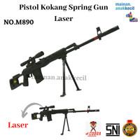 Mainan Anak Cowok Pistol Pistolan Kokang Spring Gun Laser-M890