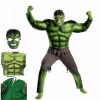 Kostum Hulk Anak Costume Costplay hallowen Superhero Avenger