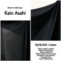 Kain Asahi polos warna hitam