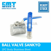 kran air ball valve stainless steel 316 sankyo 1/4 (inch)