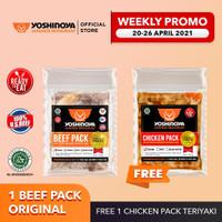 1 Beef Pack Original Free 1 Chicken Pack Teriyaki
