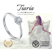 Cincin Berlian Emas Putih 18K (tiariagems#1)