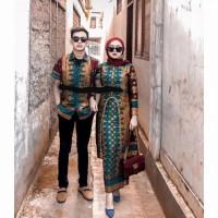 baju couple motif songket toska