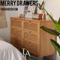 lemari laci kayu jati LADECOR- MERRY DRAWERS