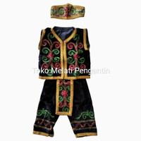 Baju Pakaian Adat Daerah Dayak Kalimantan Anak Cowo Laki TK
