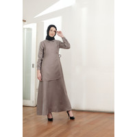 LAYERING BELT SIDE DRESS by AUNE