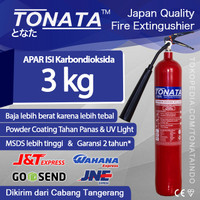 APAR 3KG Karbondioksida (CO2) TONATA / Set Komplit