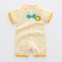 jumper bayi unisex romper bayi motif terbaru 2021 - Yellow smile, 6-12 bulan