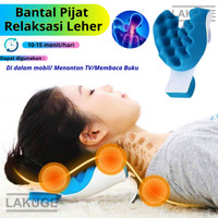 Bantal Relaksasi Leher Bantal Terapi Pijat Cervical Neck Pain Relief