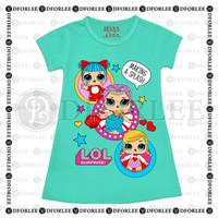 Daster Anak Perempuan / Kaos Dress Anak Perempuan Motif LOL - S