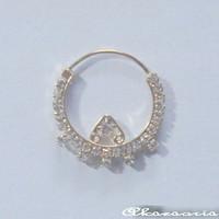 Anting Hidung India model tindik   Nath   Nose Ring   Aksesoris India