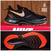 sepatu nike wanita running sport sneaker premium - Hitam orange, 36