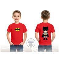 Kaos Anak BETMAN Kaos Anak Cowok/ Laki-Laki 1-10 Tahun - Merah, S