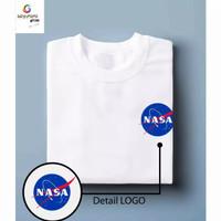 Kaos murah baju distro tshirt pria wanita kaos combed 30s logo nasa 1