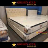 SET / Kasur American Pillo Supreme Double Matras Pillow Top Spring bed