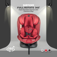 Baby Does Full Rotate 360 - Carseat Bayi - Merah