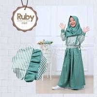 baju muslim anak perempuan setelan kulot free jilbab